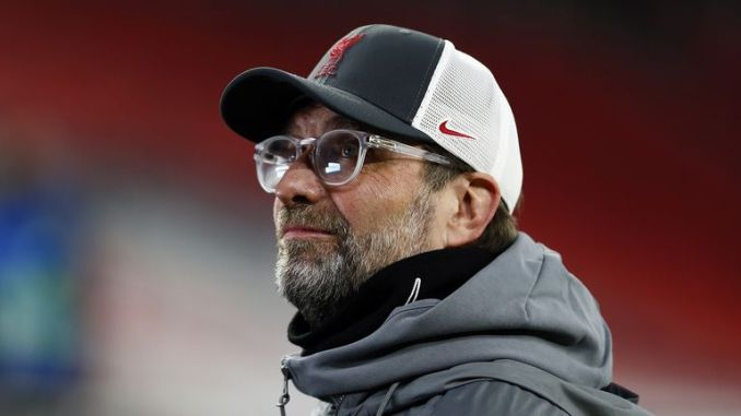 Liverpool manager Jurgen Klopp ahead of the UEFA Champions League round of sixteen, second leg match at the Puskas Arena, Budapest. Picture date: Wednesday March 10, 2021.