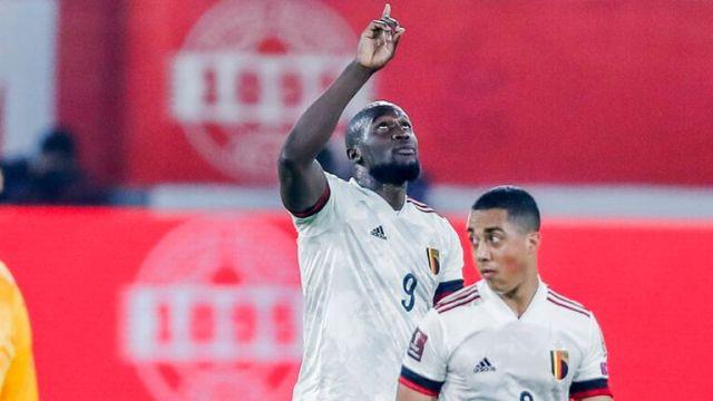 Romelu Lukaku scored Belgium's third from the spot
