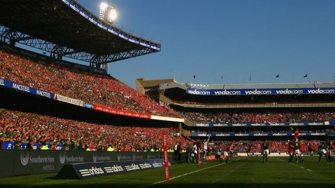 The stands were a sea of red and green during the 2009 Lions tour of South Africa