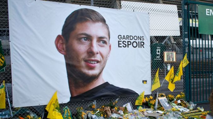 Emiliano Sala died when his plane crashed into the Channel in 2019