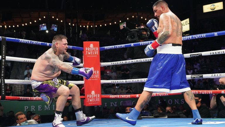 Ruiz Jr was knocked down in the second round