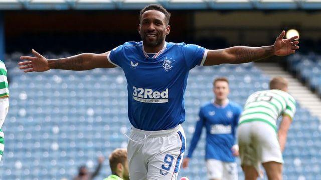 Jermain Defoe scored Rangers' last goal in Sunday's 4-1 win over Celtic