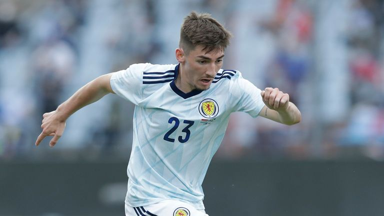 SNS - Billy Gilmour in action for Scotland during a friendly match between Luxembourg and Scotland at the Stade Josy Barthel on June 06, 2021, in Luxembourg, Scotland.