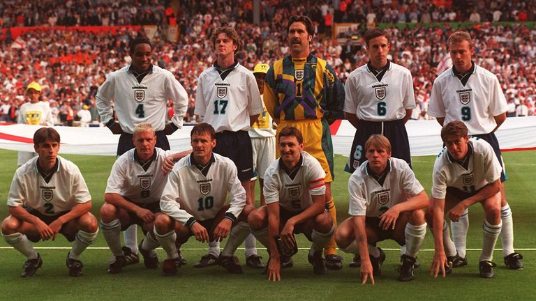 England were knocked out at the semi-final stage of Euro 96