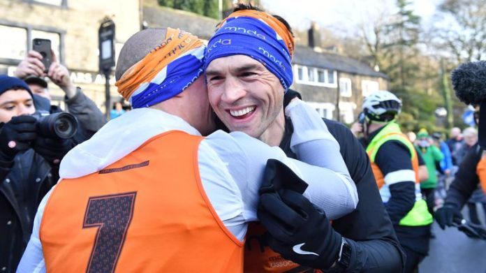 Sinfield ran seven marathons in seven days in December in support of Burrow and the Motor Neurone Disease Association