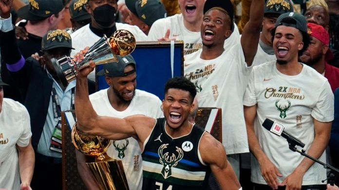Milwaukee's Giannis Antetokounmpo scored an incredible 50 points in Game 6 as the Bucks lifted their first NBA title since 1971 at the expense of Phoenix.