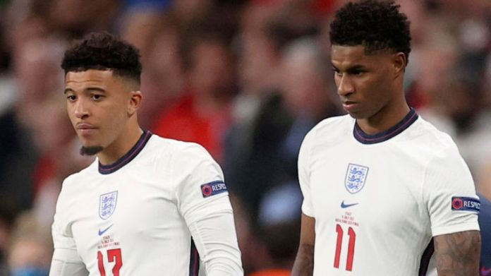 Jadon Sancho and Marcus Rashford were targeted with racist abuse on social media after England's Euro 2020 final defeat