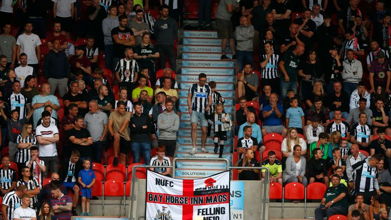 More than 1,600 Newcastle fans watched the draw in South Yorkshire
