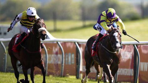 Sir Titus, right, wins at Redcar in May