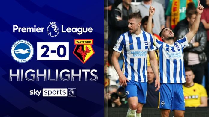 Brighton go second after Watford win