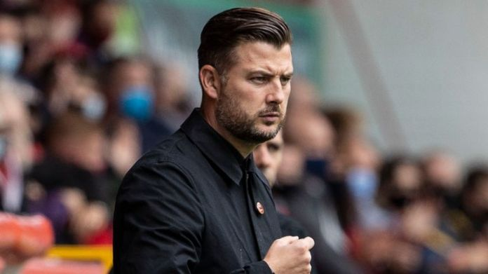 Dundee United manager Tam Courts was on the losing end against Aberdeen