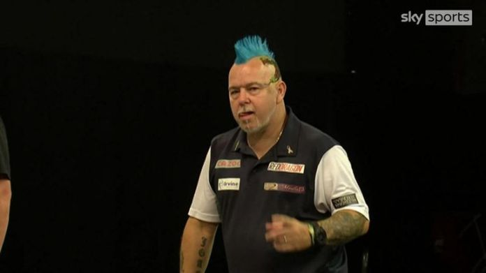 Peter Wright hit this brilliant 156 in the World Cup final against Mensur Suljovic.