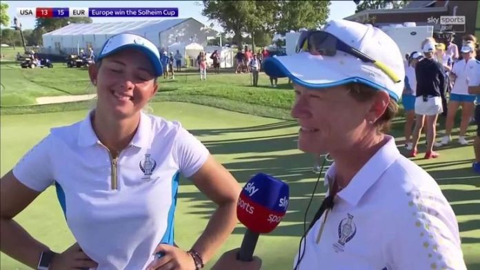 European captain Catriona Matthew said she was 'so proud' of her Solheim Cup team after Emily Pedersen sealed a 15-13 victory over the United States