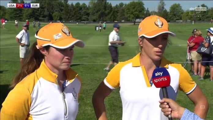 Leona Maguire and Mel Reid reflect on their 5&4 victory over Nelly Korda and Ally Ewing