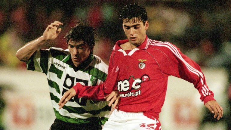 Diogo Luis in action for Benfica against Sporting Lisbon