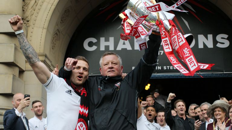 Wilder led the Blades to the League One title in his first season at Bramall Lane