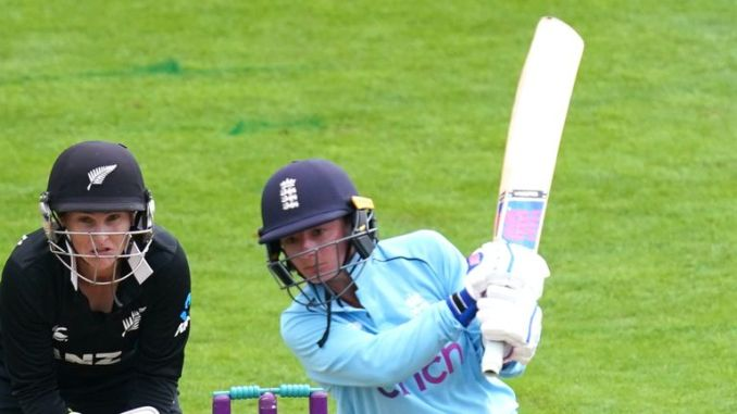 England's Danni Wyatt tops with 63 unbeaten in the second ODI against New Zealand at Worcester