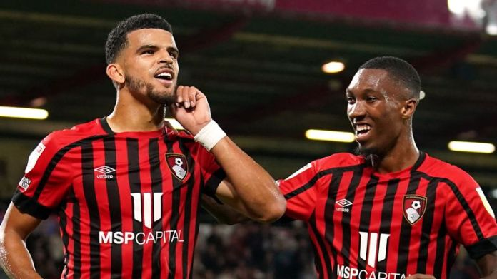 Dominic Solanke scored his fifth goal in as many games as Bournemouth beat QPR at the Vitality