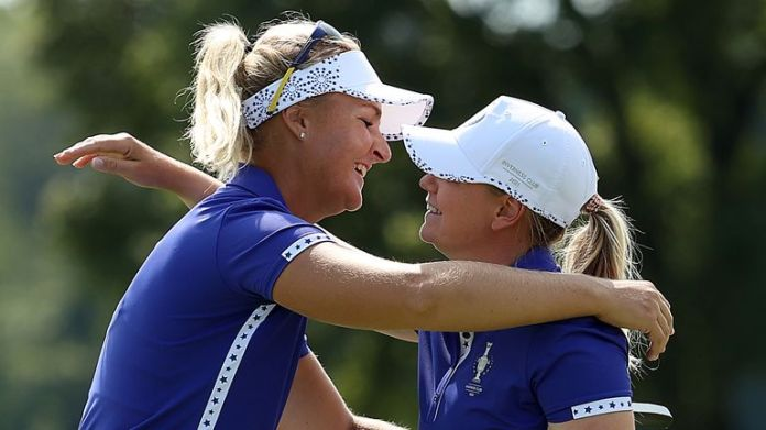 Anna Nordqvist and Matilda Castren won both matches together during a memorable opening day for Team Europe