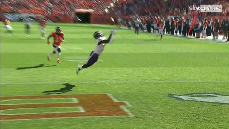 Marquis Brown showed an unusual catch from Lamar Jackson's 49-yard pass.