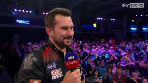 Jonny Clayton said he was struggling to relax in his match against Krzysztof Ratajski and was relieved to get through to the semi-finals of the Grand Prix.