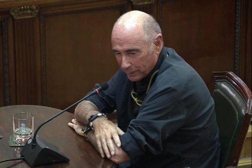 Lluís Llach, durante su declaración en el Tribunal Supremo