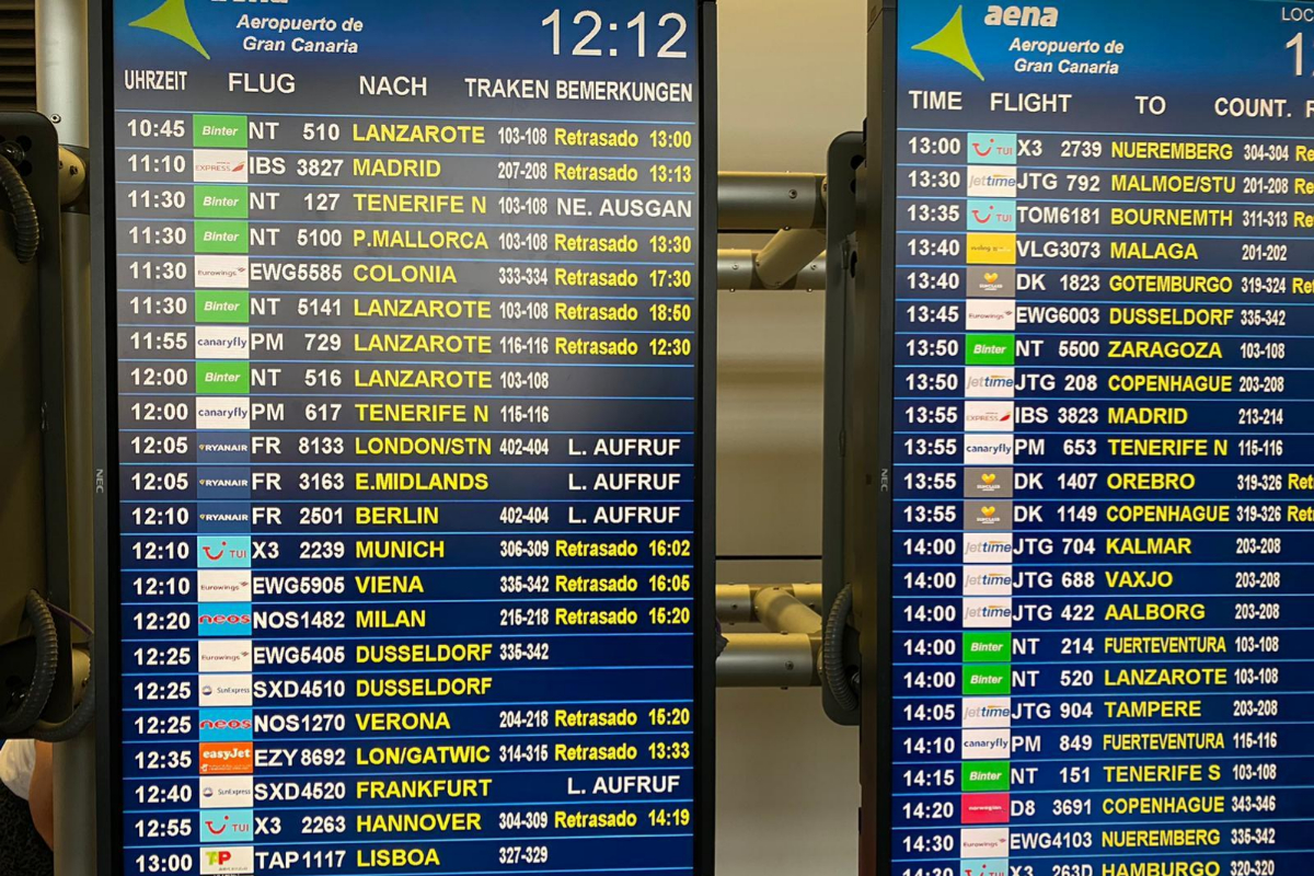 """Thousands of detained in the airports of the Canary Islands after """"a weekend of nightmare"""" for the calm and fires"""