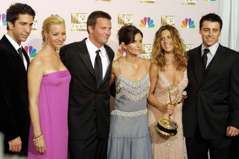 The protagonists of the series 'Friends'.