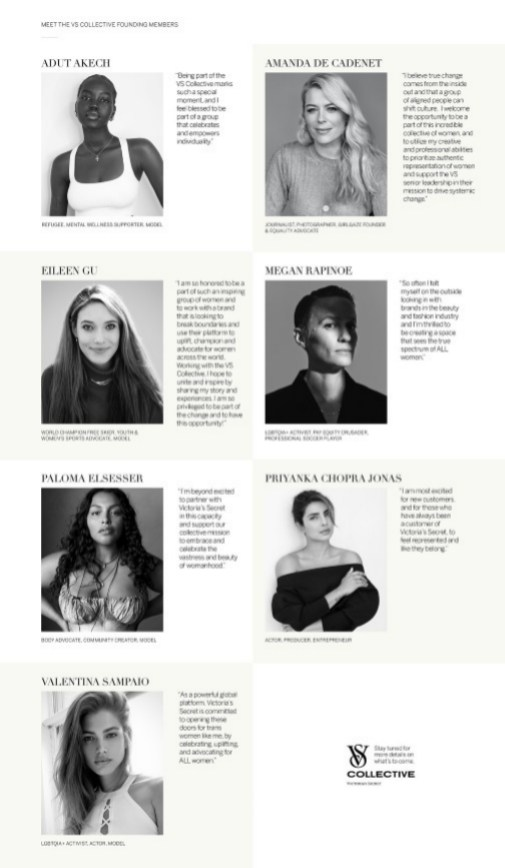Activistas nueva campaña de Victoria Secret