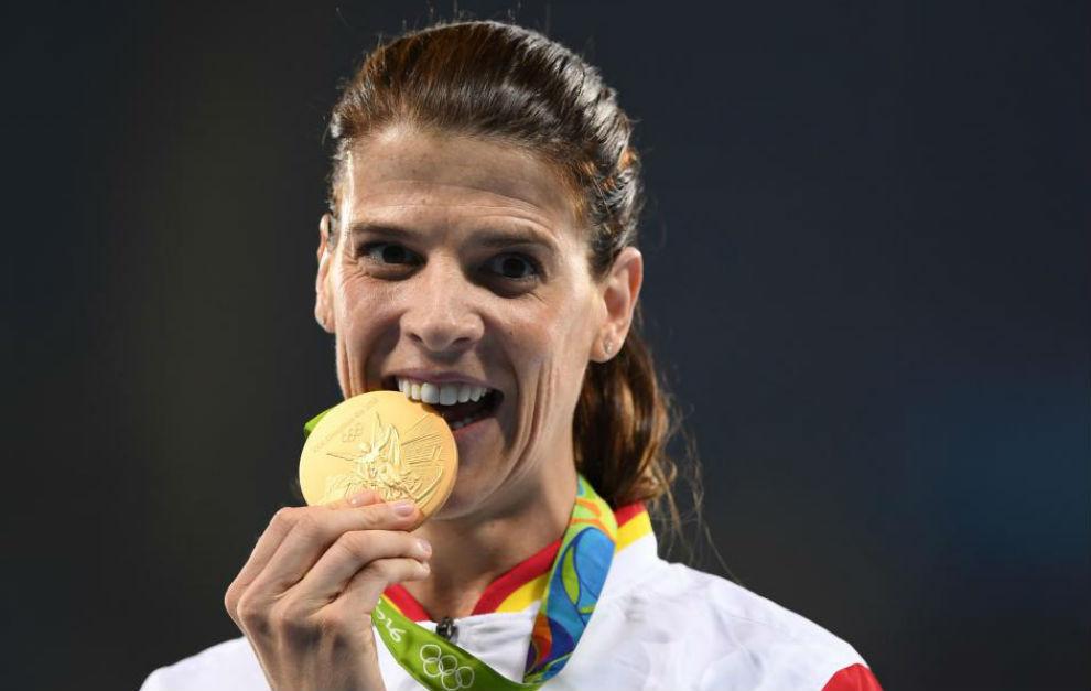 Ruth Beitia muerde el oro olímpico de Río 2016.