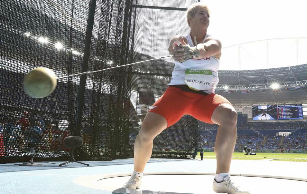 Anita Wlodarczyk en su competición en Río