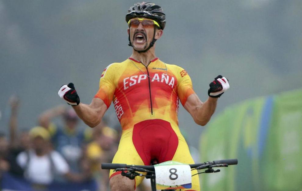 Carlos Coloma, tras atravesar la meta en Río.