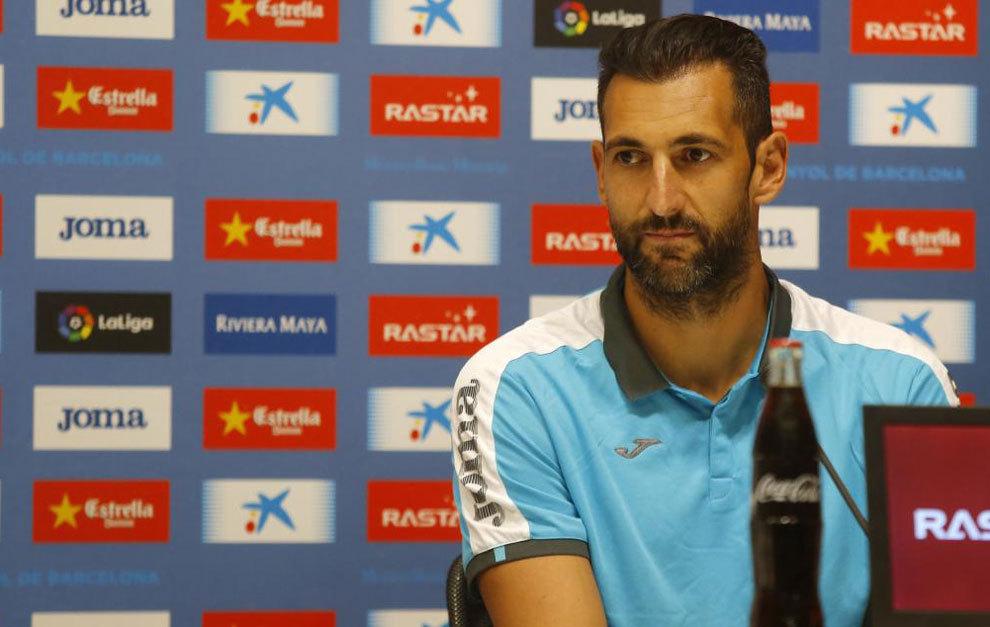 Diego López durante la rueda de prensa de su presentación