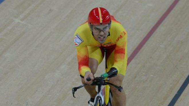 Alfonso Cabello en la prueba del kilómetro de los Juegos...