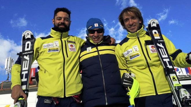 Miguel Galindo (izquierda) y Jon Santacana (derecha) junto a su...