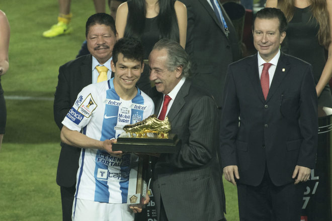 Hirving Lozano, winner of the Golden Boot