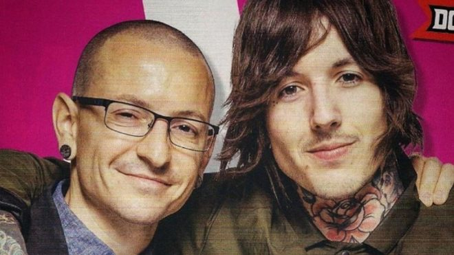 Chester Bennington y Oliver Sykes
