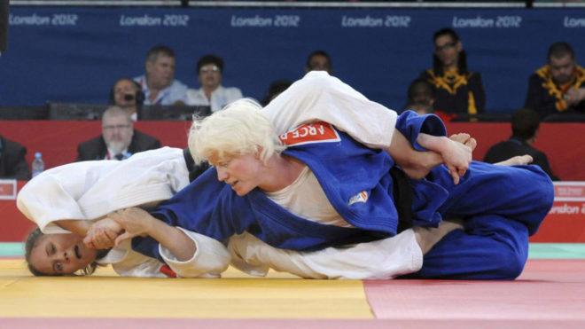 Marta Arce, durante los Juegos Paralímpicos de Londres.