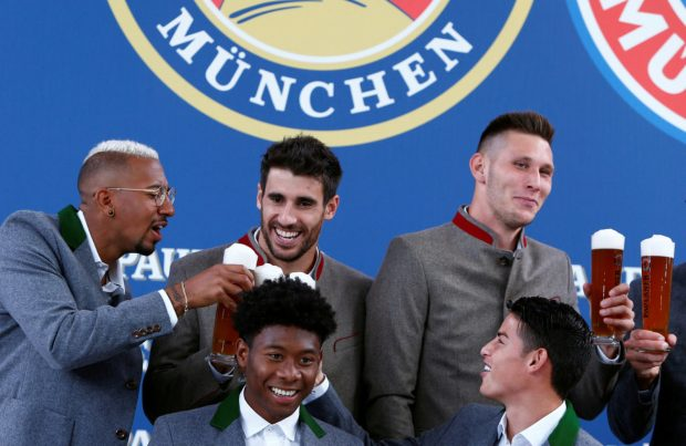 Boateng, Javi Martinez, Alaba, Suele and James