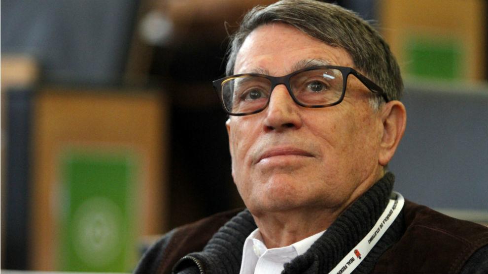 José María Odriozola, durante una Asamblea extraordinaria de la...