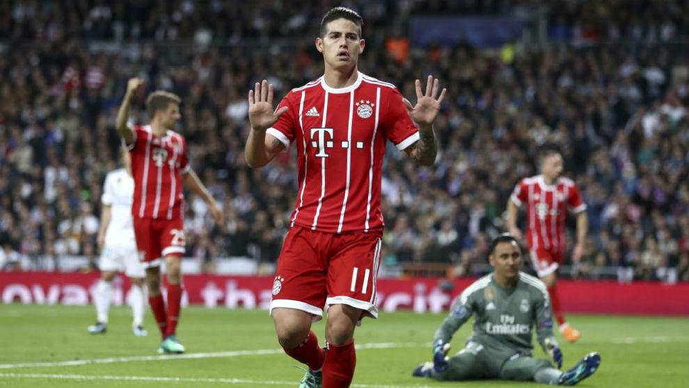 Bayern Munich midfielder James Rodriguez