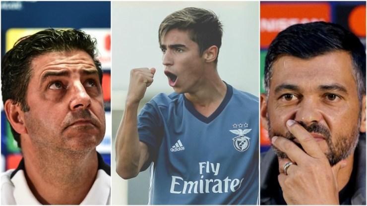 Sergio Conceicao, Rodrigo and Rui Vitoria.