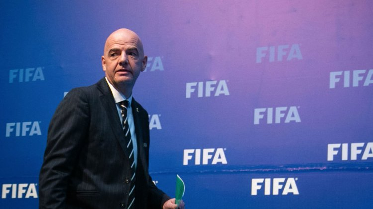 Gianni Infantino, presidente de la FIFA, durante un acto reciente