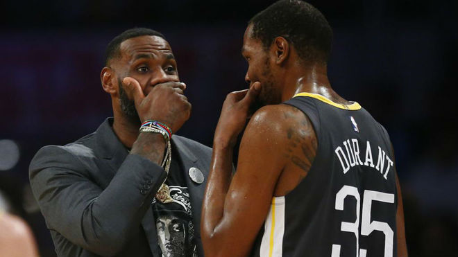 Lebron James and Kevin Durant.