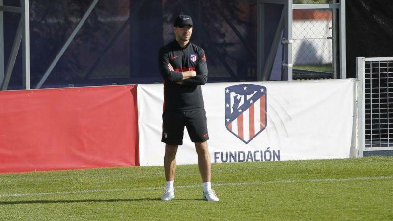 Simeone, en un entrenamiento.