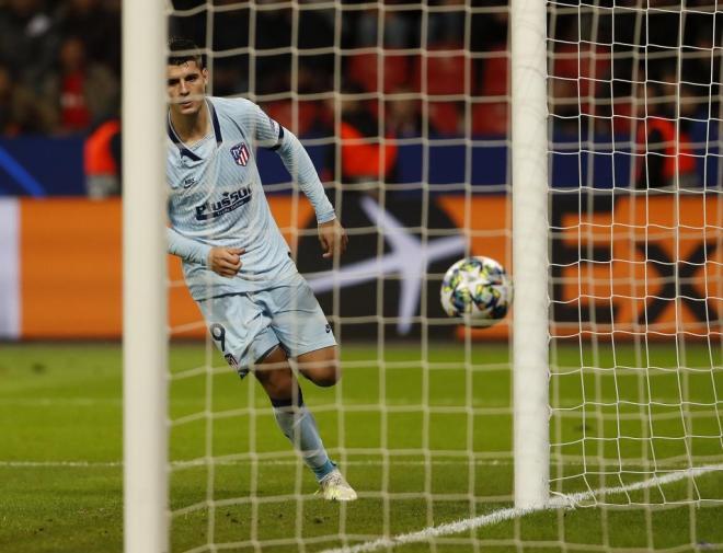 Morata anota contra el Leverkusen