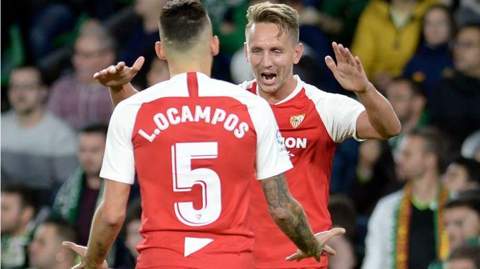 Ocampos (25) and De Jong (29), the nervous scorers of the ...