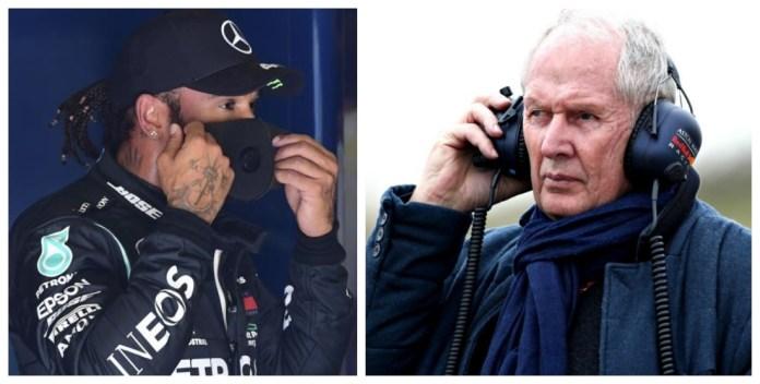 Lewis Hamilton y Helmut Marko.