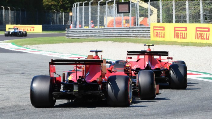 Los dos Ferrari en Monza.