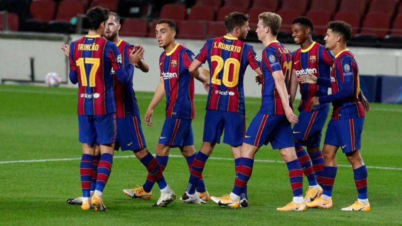 Champions League: El uno a uno del Barcelona contra el Ferencvaros: Dest y  Trincao prometen | Marca.com